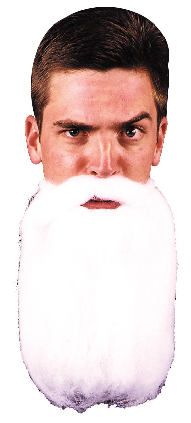 Costumes For All Occasions CB46 Mustache Beard White 14In