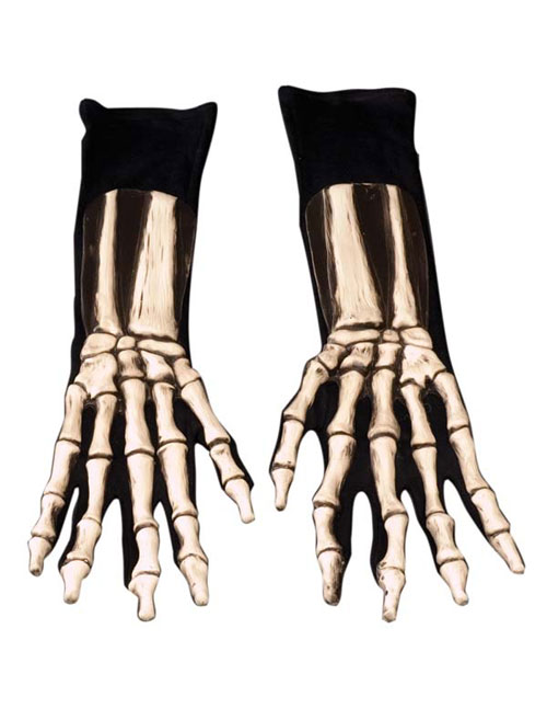 Costumes For All Occasions 1005BSG Gloves Skeleton