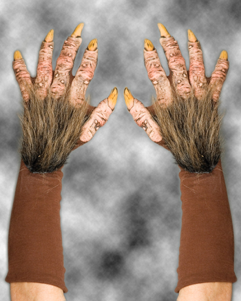 Costumes For All Occasions 1016BSG Beast Gloves Brown