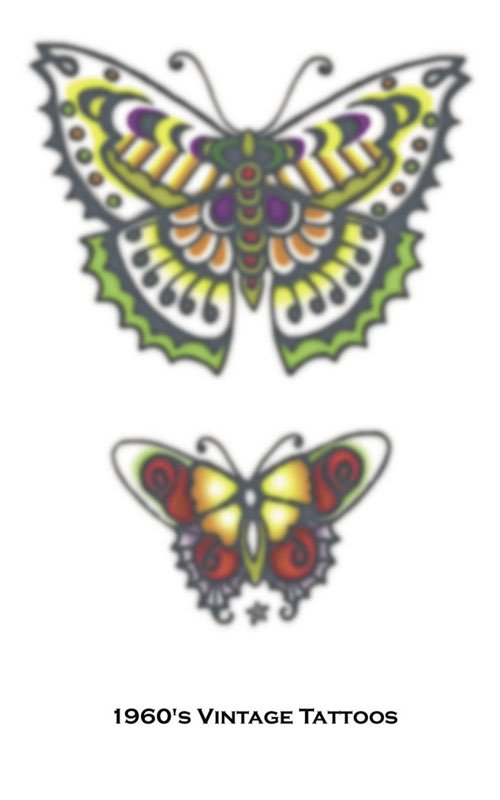 Costumes For All Occasions DF119 Tattoo Vintage Butterflies