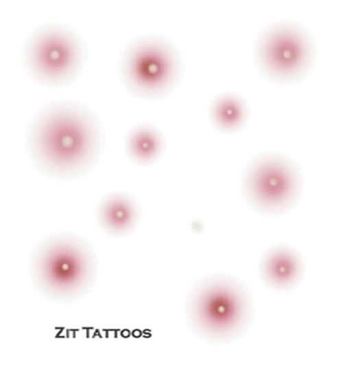 Costumes For All Occasions DF202 Tattoo Zit Fx