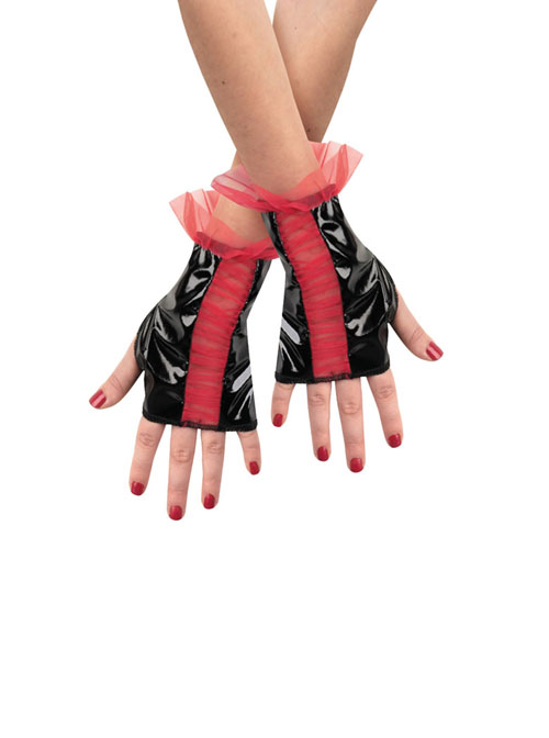 Costumes For All Occasions DG14376 Glovettes Rd Bk Rouged Child
