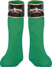Costumes For All Occasions DG14627 Power Rangr Grn Boot Covers