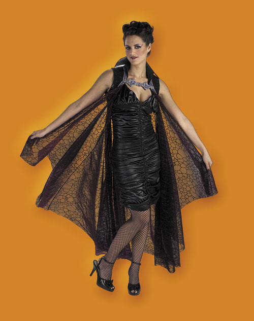 Costumes For All Occasions DG3831 Cape 58In Full Blk Purple