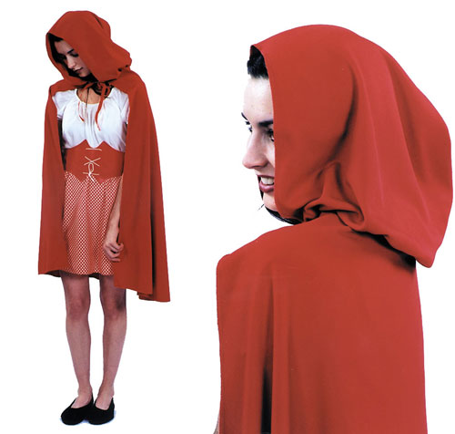 Costumes For All Occasions AA01 Red Riding Hood Cape