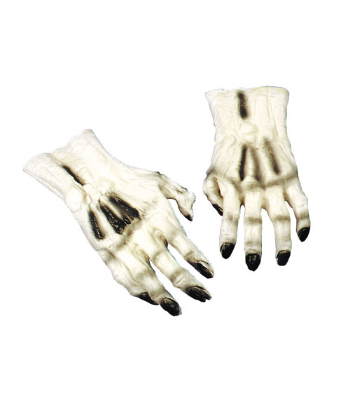 Costumes For All Occasions DU976 Hands Skeleton White