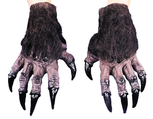 Costumes For All Occasions DU978 Werewolf Hands Brown