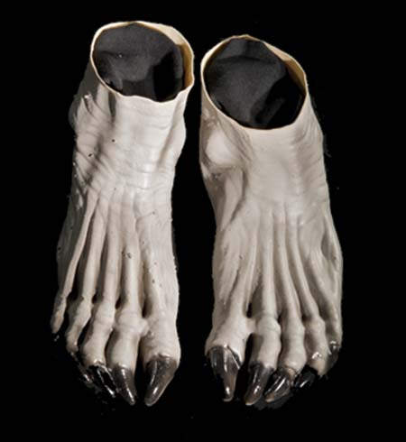 Costumes For All Occasions DU987 Werewolf Feet Grey