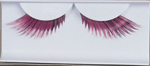 Costumes For All Occasions EA82 Eyelashes Feather Pink