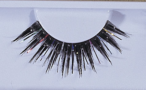 Costumes For All Occasions EA90 Eyelashes Black Glitter