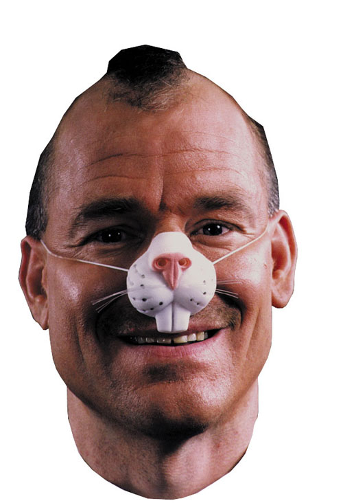 Costumes For All Occasions FA16 Nose Rabbit W Elastic