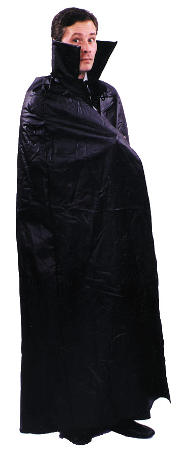 Costumes For All Occasions AA128 Cape Dracula Leather Like