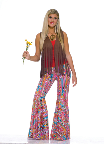 Costumes For All Occasions FM61660 Wild Swirl Bell Bottom Pants