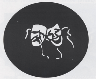 Costumes For All Occasions FP118 Stencil Comedy Tragdy Steel