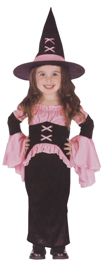Costumes For All Occasions FW112761TS Witch Pretty Pink Toddler sm