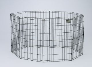 Midwest Container 8 Panel Exercise Pen Black 24x48 Inch - 558-48