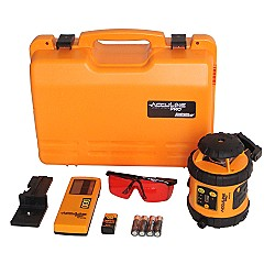 AccuLine Pro 40-6516 Self-Leveling Rotary Laser Level with Detector