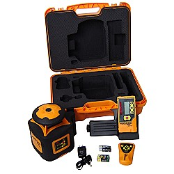 AccuLine Pro 40-6535 Automatic Leveling Horizontal Rotary Laser Level With Detector And Remote