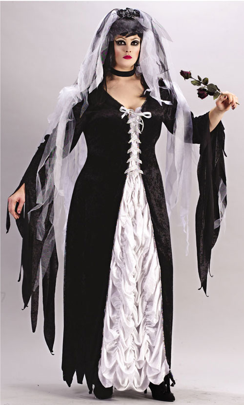 Costumes For All Occasions FW5743 Bride Of Darkness Plus Size