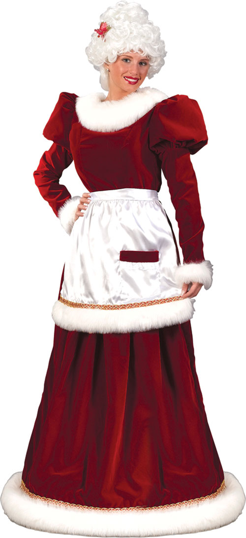 Costumes For All Occasions FW7571SD Santa Mrs Velvet Dress sm Medium