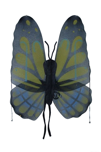 Costumes For All Occasions FW8100BYW Wings Butterfly Yellow Grn