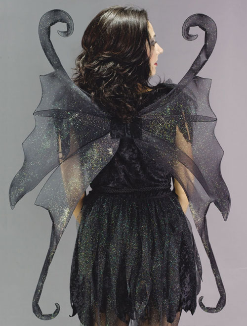 Costumes For All Occasions FW8127 Wings Fairy Large Black