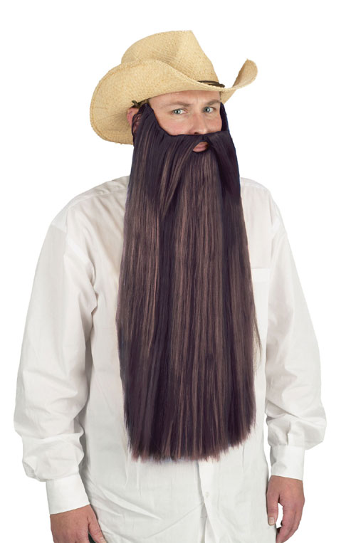 Costumes For All Occasions FW90026BN Beard W Mustache Brown