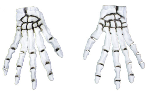 Costumes For All Occasions FW9012SK Gloves Child Skull