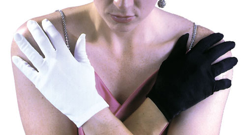 Costumes For All Occasions FW9072WT Gloves White