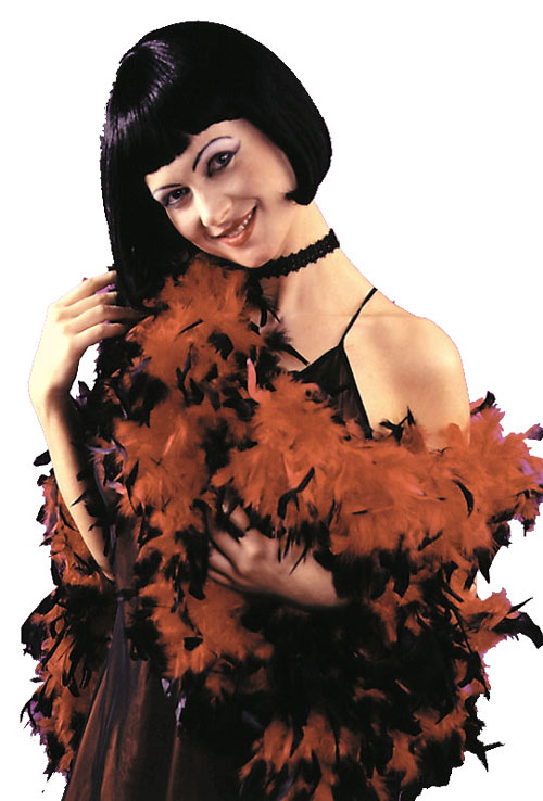 Costumes For All Occasions FW9100RB Boa 6ft Feather Red W Black