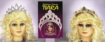 Costumes For All Occasions FW9195SV Tiara Sparkling Slvr Sequin