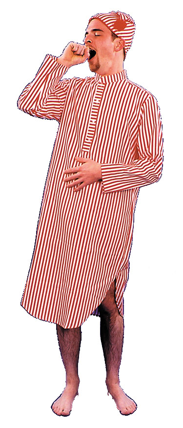 Costumes For All Occasions AC156 Nightshirt and Cap Mens