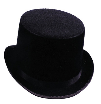 Costumes For All Occasions GA101LG Top Hat Black Felt Large