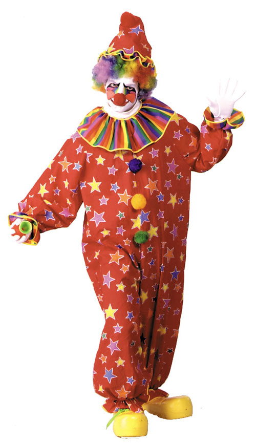 Costumes For All Occasions AC26 Clown Jumpsuit Large Assort