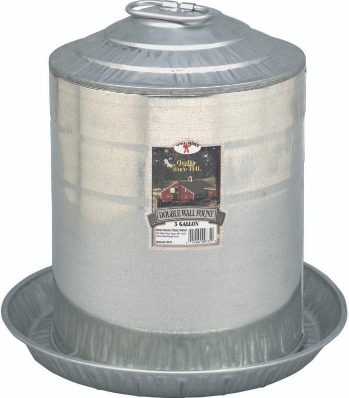 Miller Galvanized Double Wall Fountai 5 Gallon - 9835