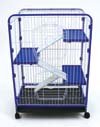 Ware Indoor Hutch 4 Level Blue Medium - 01904