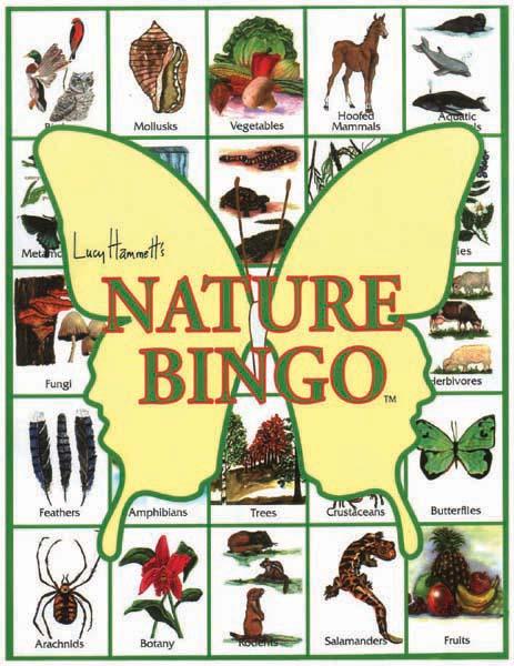 """Lucy Hammet Bingo Games LH2277 9""""L x 1""""W x 11.5""""D Nature Bingo Games"""