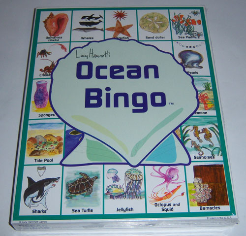 Lucy Hammet Bingo Games LH2577 Ocean Bingo Educational Game