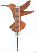 Ancient Graffiti Hummingbird Rain Gauge