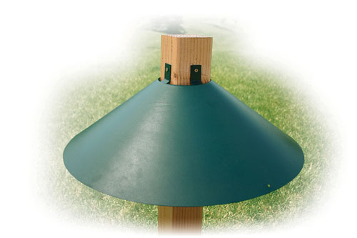 Woodlink Audubon Series Green 20 Inch 4x4 Mount Baffle