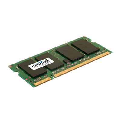 Crucial Technology CT12864AC800 1GB 200-pin SODIMM DDR2 PC2-64