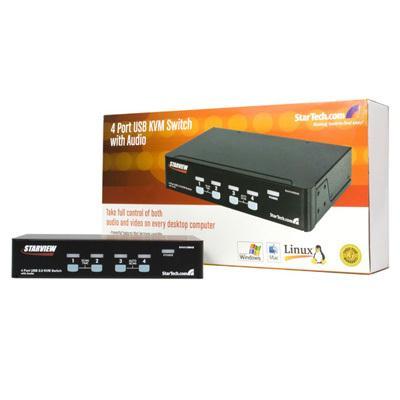Startech SV431USBAE 4-Port USB KVM Switch with audio