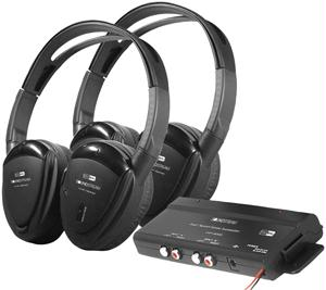 POWER ACOUSTIK HP-902RFT 2 SWIVEL EAR PAD  2-CHANNEL RF 900 MHZ WIRELESS HEADPHONES with TRANSMITT