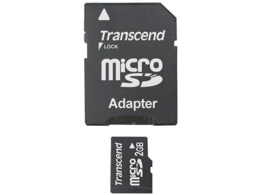 TRANSCEND INFORMATION TS2GUSD 2GB Micro SD Card Kit with Secure Digital Adapter TS2GUSD