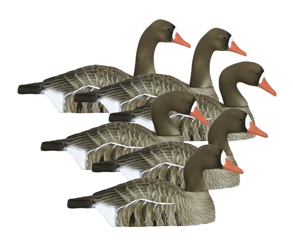 Higdon Decoys 77911 Standard Size Half Shell Goose - Speck - 6 Pack