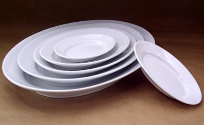 Pillivuyt 240145BL Oval Serving Platter  Ex-Large -17.75 x 11.75 Inch