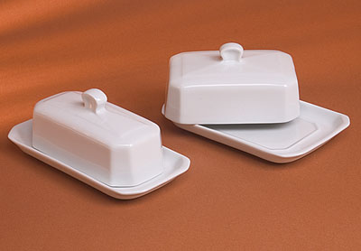 Pillivuyt 270318BX Butter Tray With Cover  American Style - 7.5 x 3.5 Inch