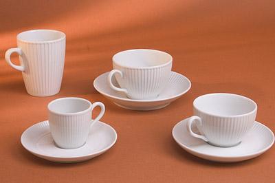 Plisse Breakfast Cup - 10 oz - Pillivuyt 514229BL
