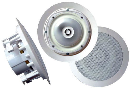 Sound Around PWRC81 8 Inch Two Way In Ceiling Stereo Speaker Water Proof