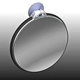 Zadro FC30 5X 10X Magnifcation Spot Mirror - White and Gray